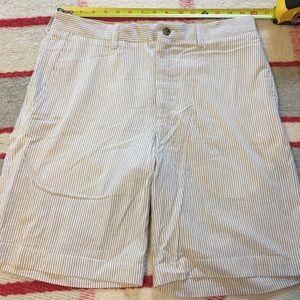 Alan Flusser Pinstrip Seersucker Shorts NWT Sz 32